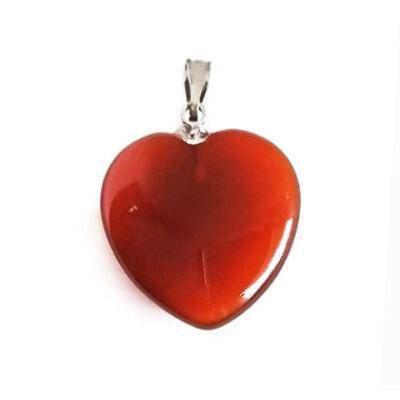 Karneol szív medál