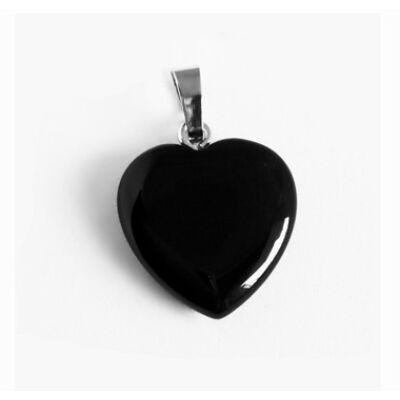 Ónix szív medál