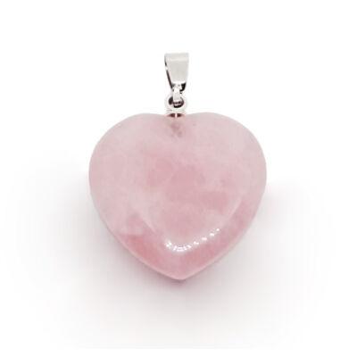 Rózsakvarc szív medál