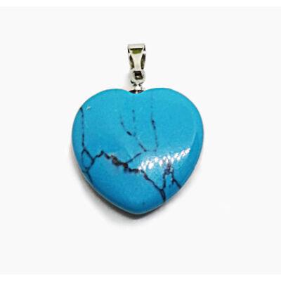 Türkiz szív medál